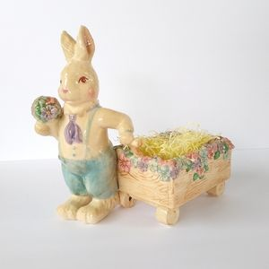 Department 56 Peter Rabbit ceramic crackle LIKENEW